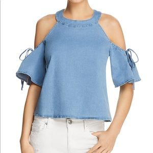 PPLA Wilson Cold Should Chambray Top S